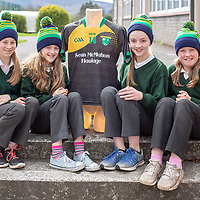 Helena ODea, Lilly Kavanagh, Aoife Frost and Eva McInerney from Kilkishen NS wearing the hats from their Jessies Project