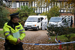 © under license to London News pictures.  03/10/2010.The search continues for the body of murder suspect Joanna Brown who disappeared from her multi-million pound home in Ascot, Berkshire. Pictured are police and forensics at the scene.