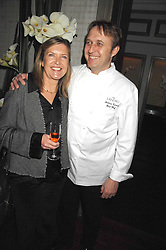 Head chef at The Landau ANDREW TURNER and ALISON WENHAM at a party to promote The Landau at The Langham, Portland Place, London W1 on 7th February 2008.<br /><br />NON EXCLUSIVE - WORLD RIGHTS