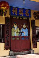 Meng Eng Soo Temple Colorful Doorway, Penang