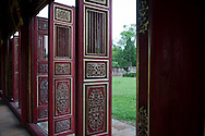 Decorated doors in Hue Imperial City, Vietnam, Southeast Asia