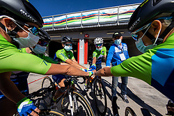 Team Slovenia during Women Elite Road Race at UCI Road World Championship 2020, on September 26, 2020 in Imola, Italy. Photo by Vid Ponikvar / Sportida