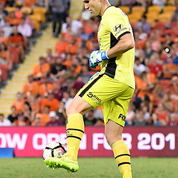 BRISBANE, AUSTRALIA - FEBRUARY 3: Michael Theo of the Roar controls the ball during the round 18 Hyundai A-League match between the Brisbane Roar and Sydney FC at Suncorp Stadium on February 3, 2017 in Brisbane, Australia. (Photo by Patrick Kearney/Brisbane Roar)