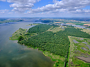 Nederland, Zuid-Holland, Dordrecht, 14-05-2020; Eiland van Dordrecht, Nieuwe Dordtse Biesbosch, Middenels, Zuidgat, Noorderdiep, Zuid-Maartensgat. Hollandsch Diep in het verschiet.<br /> New Dordtse Biesbosch, river New Merwede (left).<br /> <br /> luchtfoto (toeslag op standard tarieven);<br /> aerial photo (additional fee required);<br /> copyright foto/photo Siebe Swart