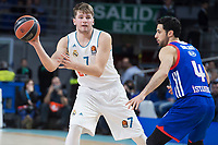 Real Madrid Luka Doncic and Anadolu Efes Dogus Balbay during Turkish Airlines Euroleague match between Real Madrid and Anadolu Efes at Wizink Center in Madrid, Spain. January 25, 2018. (ALTERPHOTOS/Borja B.Hojas)