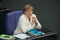 29 JUN 2012, BERLIN/GERMANY:<br /> Angela Merkel, CDU, Bundeskanzlerin, Bundestagsdebatte zum Fiskalpakt, zum dauerhaften Euro-Rettungsschirm ESM, zur ESM-Finanzierung und zur Aenderung des Vertrags über die Arbeitsweise der Europaeischen Union , Plenum, Deutscher Bundestag<br /> IMAGE: 20120629-01-080<br /> KEYWORDS: Fiskalpakt, dauerhafter Rettungsschirm EFSM, Fiskalvertrag, Einrichtung des Europäischen Stabilitätsmechanismus, Europäischen Stabilitätsmechanismus ESM-Finanzierungsgesetz ESMF, Stabilitaetsunion