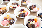 Brooklyn, NY - February 28, 2015: Eatsy's Brisket bowls served for lunch at the Food + Enterprise Conference in Sunset Park's Industry City complex.<br /> <br /> CREDIT: Clay Williams for Edible Brooklyn.<br /> <br /> © Clay Williams / claywilliamsphoto.com