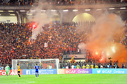 September 23, 2017 - Tunis, Tunisia - The supporters of EST during the African Champions league quarter final football match between Tunisan Esperance(EST) and Ahly Sporting Club of Egypt in Rades olympic stadium (Credit Image: © Chokri Mahjoub via ZUMA Wire)