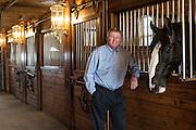 Congressman Frank Lucas at Express Clydesdale Ranch for Oklahoma Living Magazine