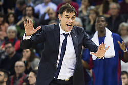 January 27, 2017 - Barcelona, Spain - Gregorios Bartzokas during the Euroleague Turkish Airlines EuroLeague regular season between FC Barcelona vs Baskonia Vitoria Gasteiz at Palau Blaugrana on January 28th, 2017 in Barcelona, Spain. (Credit Image: © Xavier Bonilla/NurPhoto via ZUMA Press)