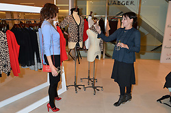 Left to right, JASMINE GUINNESS and PEARL LOWE at the launch of the 'Jasmine for Jaeger' fashion collection by Jasmine Guinness for fashion label Jaeger held at Fenwick's, Bond Street, London on 9th September 2015.