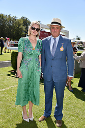Viscount Astor and his daughter in law Victoria Astor at the Qatar Goodwood Festival - Glorious Goodwood, Goodwood Racecourse, West Sussex 02 August 2018.