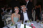 Charlotte Trembath and Federico Canciani. Connaught Square Squirrel Hunt Inaugural Hunt Ball. Banqueting House, Whitehall. 8 September 2005. ONE TIME USE ONLY - DO NOT ARCHIVE  © Copyright Photograph by Dafydd Jones 66 Stockwell Park Rd. London SW9 0DA Tel 020 7733 0108 www.dafjones.com