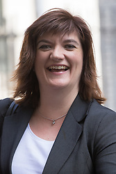 Downing Street, London, May 17th 2016. Education Secretary Nicky Morgan leaves the weekly cabinet meeting in Downing Street.