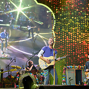 HYATTSVILLE, MD - August 6th, 2017 - Guy Berryman, Will Champion, Chris Martin and Jonny Buckland of Coldplay perform at FedEx Field as part of the band's A Head Full of Dreams tour. (Photo by Kyle Gustafson / For The Washington Post)