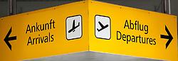 THEMENBILD - ein Ankunft-Abflug Schlid am Flughafen Innsbruck, Österreich, aufgenommen am 09.07.2015 // a Arrival-Departure sign at Innsbruck Airport, Austria on 2015/07/09. EXPA Pictures © 2015, PhotoCredit: EXPA/ Jakob Gruber