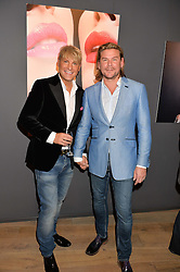 Left to right, GARY COCKERILL and PHIL TURNER at the launch of Simply Glamorous by Gary Cockerill held at Alon Fine Art, 5-7 Dover Street, London on 16th September 2015.