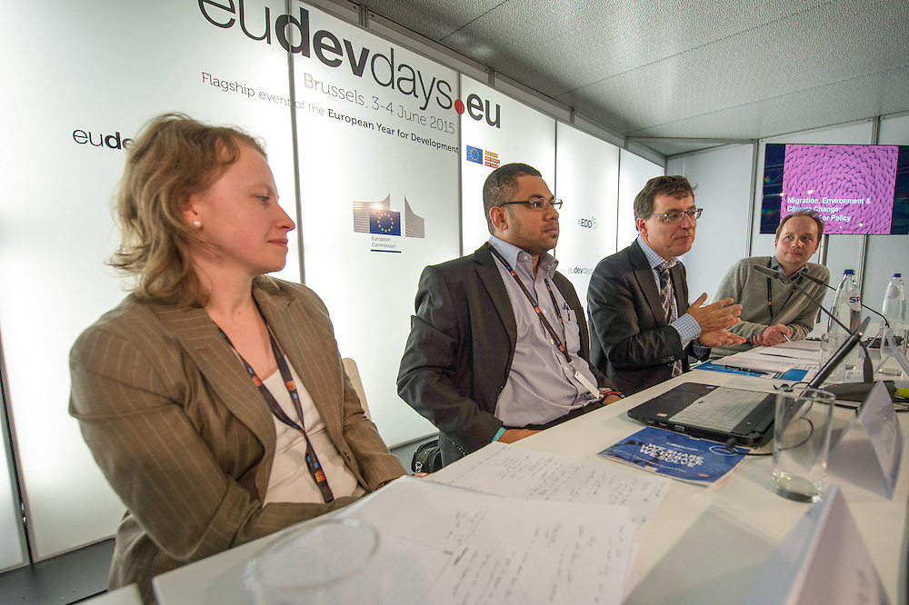 04 June 2015 - Belgium - Brussels - European Development Days - EDD - Migration - Migration , environment and climate change - Evidence for policy - Jonah Auka , Office of Climate Change and Development , Government of Papua New Guinea © European Union