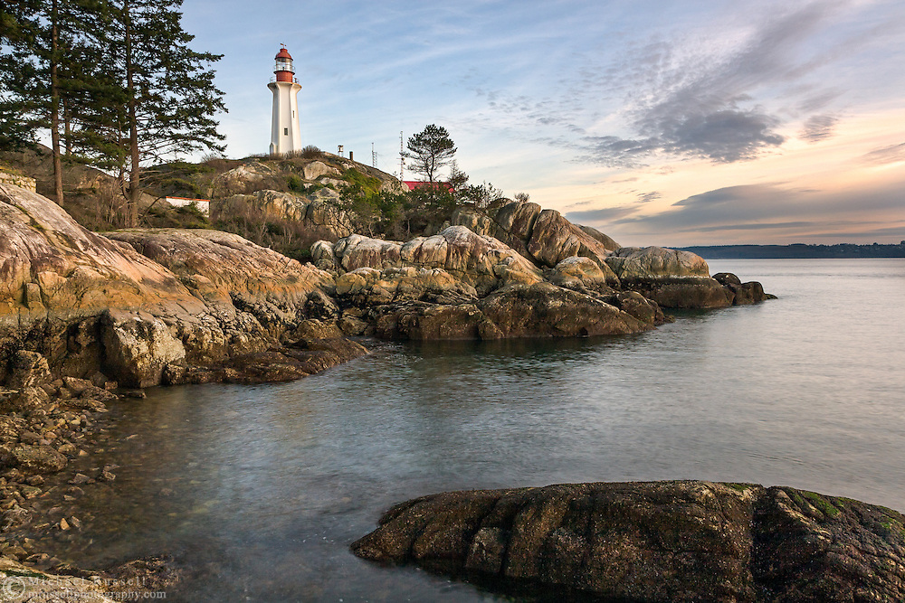 The Point Atkinson Lighthouse in Lighthouse Park, West Vancouver, Canada