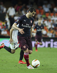 May 9, 2019 - Valencia, Valencia, Spain - of Arsenal in action during UEFA Europa League football match, between Valencia and Arsenal, May 09th, in Mestalla stadium in Valencia, Spain. (Credit Image: © AFP7 via ZUMA Wire)