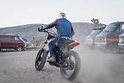 California desert lifestyle photographer Raymond Rudolph photographs van and motorcycle culture in the Mojave Desert