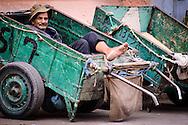 Street worker in the Djemaa El-Fna Medina, Marrakech, Morocco
