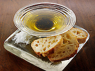 Dipping oil and chiabatta snack