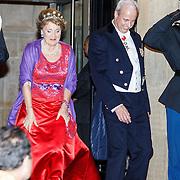 NLD/Amsterdam/20160520 -  Koning Willem-Alexander en Koningin Máxima ontvangen het Corps Diplomatique voor het jaarlijkse galadiner. Prinses Margriet