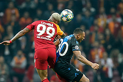 November 26, 2019, Galatasaray, Turkey: Galatasaray's Mario Rene Junior Lemina and Club's Lois Openda fight for the ball during a game between Turkish club Galatasaray and Belgian soccer team Club Brugge, Tuesday 26 November 2019 in Istanbul, Turkey, fifth match in Group A of the UEFA Champions League. (Credit Image: © Bruno Fahy/Belga via ZUMA Press)