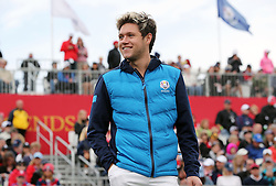 Europe's Niall Horan during a celebrity golf match ahead of the 41st Ryder Cup at Hazeltine National Golf Club in Chaska, Minnesota, USA.