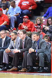 22 November 2017:  Von Washington, Ryan Hellenthal & Marty Bell during a College mens basketball game between the Quincy Hawks and Illinois State Redbirds in  Redbird Arena, Normal IL