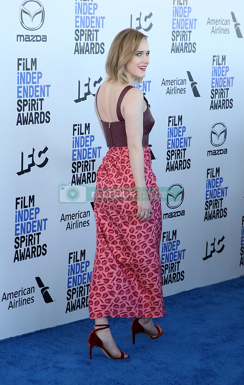 February 8, 2020, Los Angeles, California, United States: 2020 Film Independent Spirit Awards held at Santa Monica Pier..Featuring: Rachel Brosnahan.Where: Los Angeles, California, United States.When: 08 Feb 2020.Credit: Faye's VisionCover Images (Credit Image: © Cover Images via ZUMA Press)