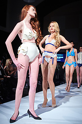 © Licensed to London News Pictures.  05/11/2014. OXFORD, UK. Oxford Fashion Week SS15 Lingerie Show at the Malmaison Hotel in Oxford. <br /> <br /> In this picture: Models wearing outfits created by designer William Wilde. <br /> <br /> Photo credit: Cliff Hide/LNP