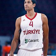 Turkey's Cenk AKYOL during their Istanbul CUP 2011match played Montenegro between Turkey at Abdi Ipekci Arena in Istanbul, Turkey on 25 August 2011. Photo by TURKPIX