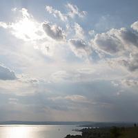 Clouds over Lake Balaton at Balatonakarattya (about 90 km South-West of capital city Budapest), Hungary on July 14, 2018. ATTILA VOLGYI