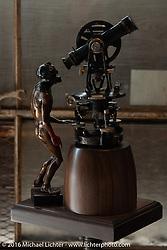 Jeff Decker bronze sculptures at the Handbuilt Motorcycle Show. Austin, TX, USA. April 10, 2016.  Photography ©2016 Michael Lichter.