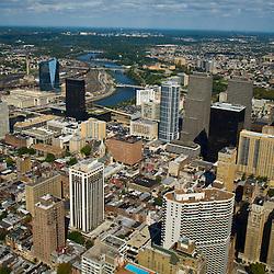 AErial views of Philadelphia facing west towards Drexel Univ