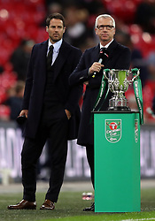 Sky Sports pundits Alan Pardew (right) and Jamie Redknapp