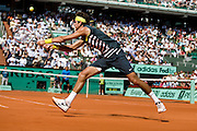 Paris, France. June  1st 2009. .Roland Garros - Tennis French Open. .Juan Martin Del Potro against Jo Wilfried Tsonga