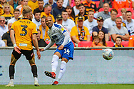 Tranmere Rovers defender Jake Caprice (14) and Newport County defender Dan Butler (3) during the EFL Sky Bet League 2 Play Off Final match between Newport County and Tranmere Rovers at Wembley Stadium, London, England on 25 May 2019.