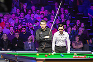 Mark Selby left pondering his next move at the World Snooker 19.com Scottish Open Final Mark Selby vs Jack Lisowski at the Emirates Arena, Glasgow, Scotland on 15 December 2019.