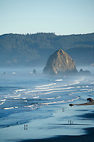 Scenic of Haystack Rock. Cannon Beach, Oregon.