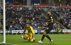 Derby County's Joe Ledley celebrates after Derby County's Mason Mount scores his side's first goal of the game