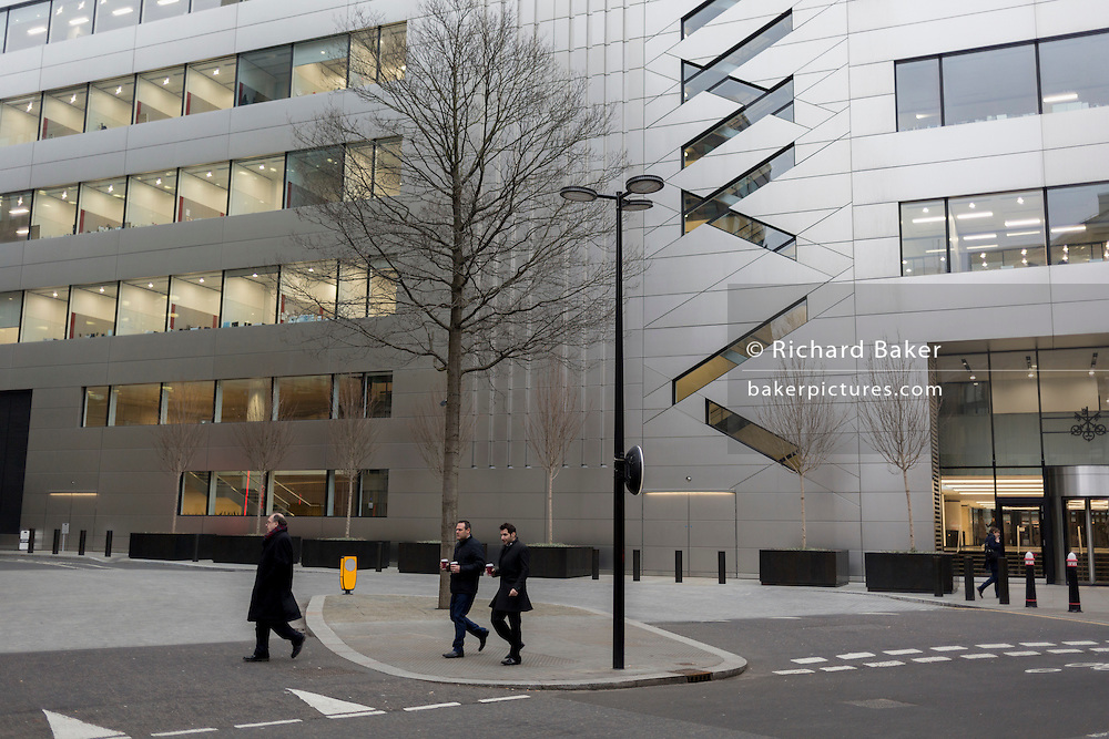 The exterior of the UBS corporate headquarters at Broadgate, on 9th February 2017, in the City of London, England.