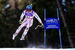 10.02.2011, Kandahar, Garmisch Partenkirchen, GER, FIS Alpin Ski WM 2011, GAP, Herren Abfahrtstraining, im Bild Benjamin Raich (AUT) takes to the air competing in the first men's downhill training run on the Kandahar race piste at the 2011 Alpine skiing World Championships, EXPA Pictures © 2011, PhotoCredit: EXPA/ M. Gunn