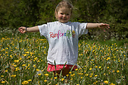 NO FEE PICTURES<br /> 19/5/18 Hundreds of people of all ages lapped up the summer sunshine when they came out to support an important cause which is close to many of their hearts, organ donation, by taking part in the Irish Kidney Association's 'Run for a Life' family fun run which took place at Corkagh Park, Clondalkin, Dublin 22 on Saturday 19th May.   (www.runforalife.ie) Pictured Sophie, age 2, Donegal. Picture:Arthur Carron
