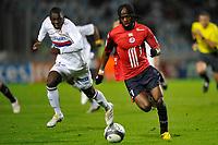FOOTBALL - FRENCH CHAMPIONSHIP 2009/2010  - L1 - LILLE OSC v OLYMPIQUE LYONNAIS - 5/12/2009 - PHOTO GUY JEFFROY / DPPI - GERNVINHO (LIL)