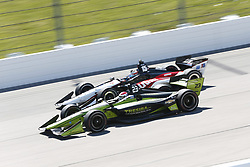 July 8, 2018 - Newton, Iowa, United States of America - CHARLIE KIMBALL (23) of the United States battles for position during the Iowa Corn 300 at Iowa Speedway in Newton, Iowa. (Credit Image: © Justin R. Noe Asp Inc/ASP via ZUMA Wire)
