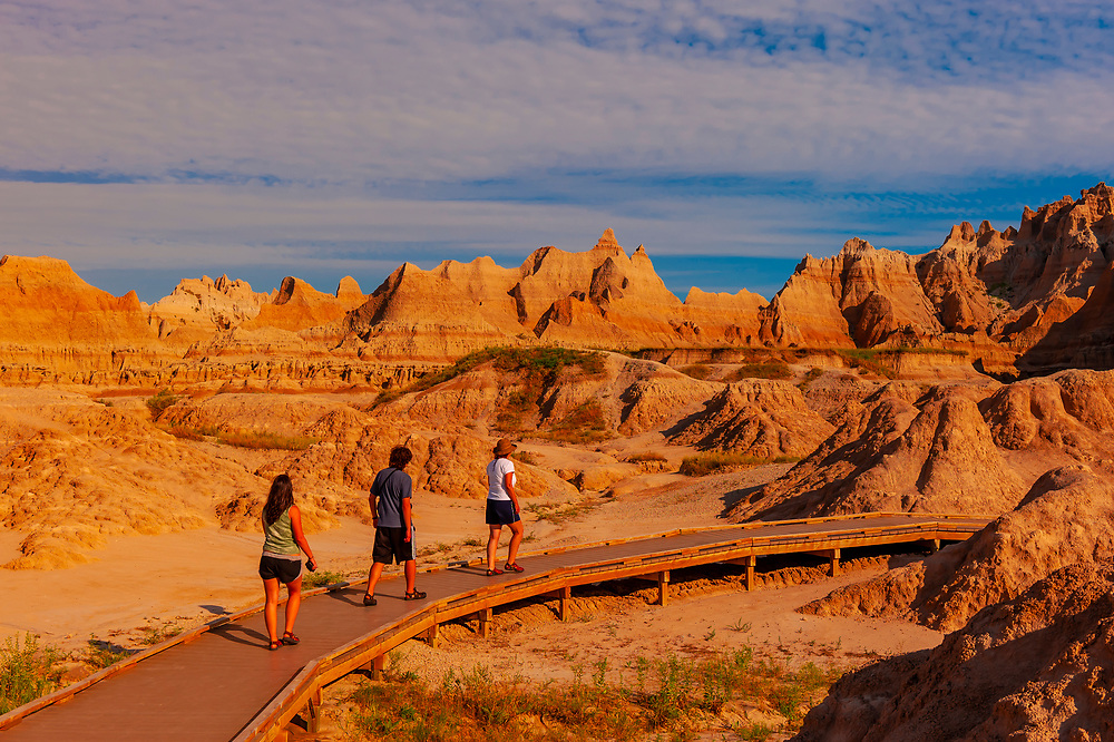 Fossil Exhibit Trail, Badlands National Park, South Dakota USA