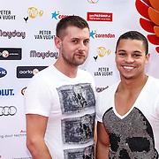 NLD/Amsterdam/20150629 - Uitreiking Rainbow Awards 2015, Jeffrey wammes en ..............